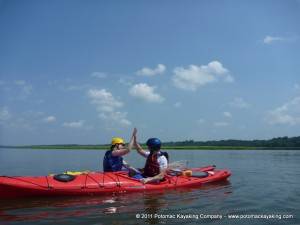 Potomac Kayaking Company Teamwork 300x225 Sea Kayak Lessons